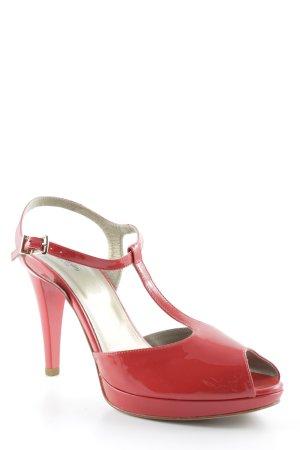 Nero Giardini Zapatos de tacón con barra en T rojo-color oro elegante