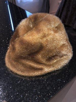 Cappello marrone-marrone chiaro