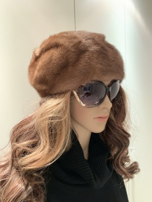 Fur Hat light brown-camel