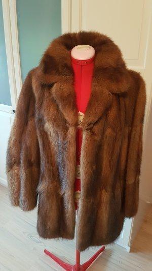 Veste de fourrure bronze