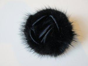 Broche negro-marrón-negro vidrio