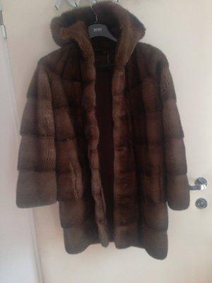 Abrigo de piel taupe Pelaje