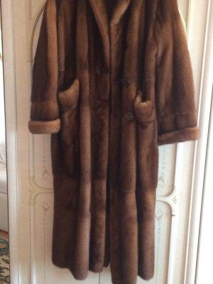 Pelt Coat cognac-coloured