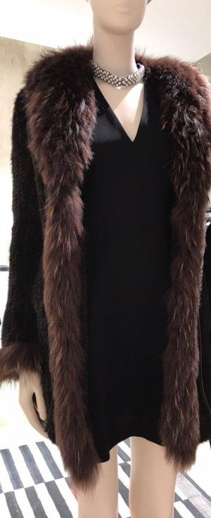 Abrigo de piel marrón Pelaje