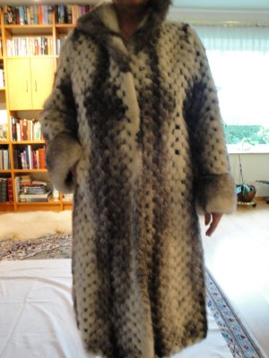 Pelt Coat silver-colored-black pelt