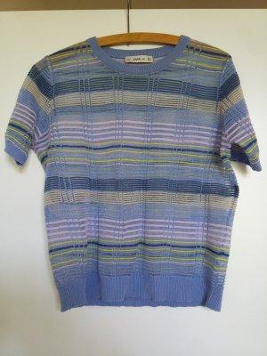 Zara Knit Top lavorato a maglia multicolore Fibra sintetica