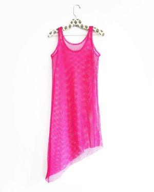 Vintage Vestido estilo camisa rosa