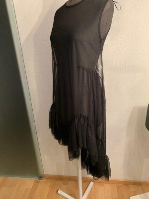 Netz Kleid Überzieher mit Volant Gr 38 40 M von Zara
