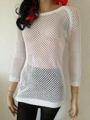 Netz Pullover Shirt Netzpulli transparent Überzieher
