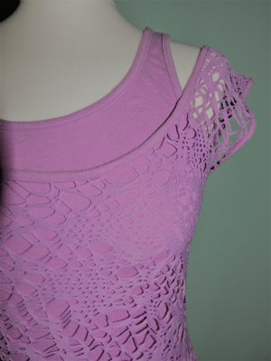 Mesh Shirt pink polyester