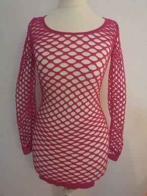 Netzkleid pink
