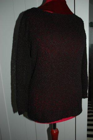Grof gebreide trui zwart