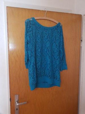 Laura Scott Camisa de malla turquesa