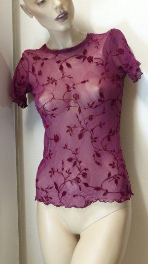 Mesh Shirt purple-bordeaux