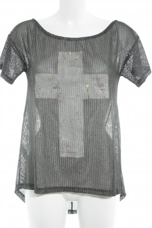Mesh Shirt themed print punk style