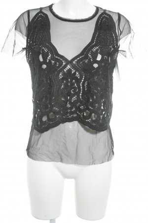 Mesh Shirt black Boho look