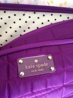 Kate Spade Sacoche d'ordinateur violet-blanc nylon