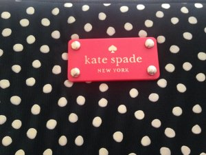 "Neu 17 "" Kate Spade New York Laptop Tasche white dots schwarz NP 110 Eur"