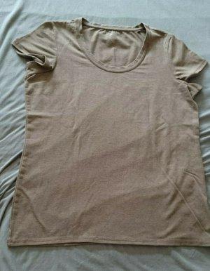 NEU 2 Basic Shirts neu Gr 40/42 jeansblau und beige meliert