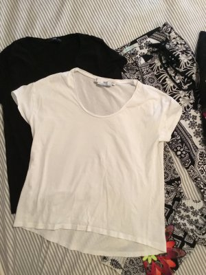 Mango T-shirt bianco-nero Cotone
