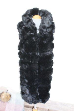 Gilet en fourrure noir acrylique