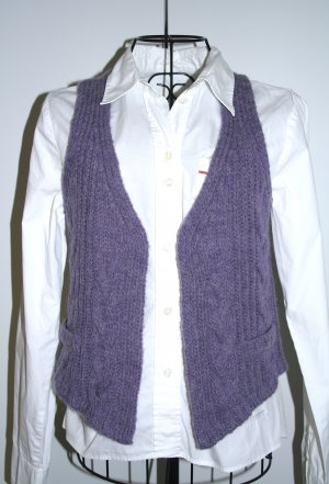 24 Hours Knitted Vest grey violet