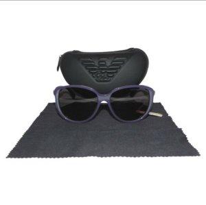 Emporio Armani Occhiale a farfalla viola scuro Materiale sintetico