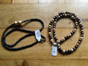 **NEU**  2x Echte Perlenketten, Halskette, Kette (u.a. Süßwasserperlen) neu UVP 278,-€  **NEU**