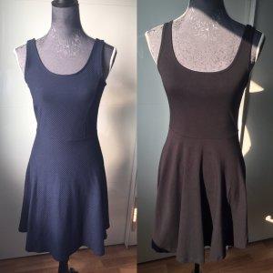 Vestido elástico negro-azul oscuro