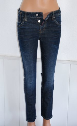 NEU 34 IT 38 DSQUARED2 Luxus Celebrity Jeans Röhre Hose Stretch Blau