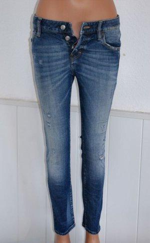 NEU 34 IT 38 ●● DSQUARED2 ●● Luxus Jeans Röhre Hose Vintage Destroyed Stretch