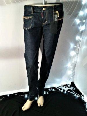 Dsquared2 Low Rise jeans blauw Katoen