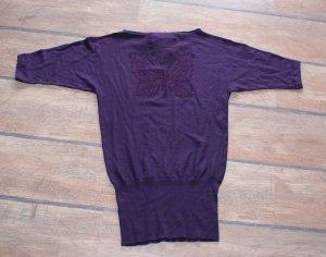 Jersey de punto violeta azulado Viscosa
