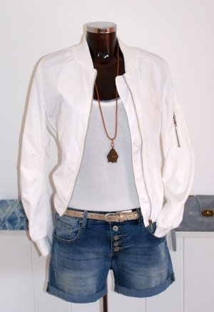 Giacca bomber bianco Poliestere