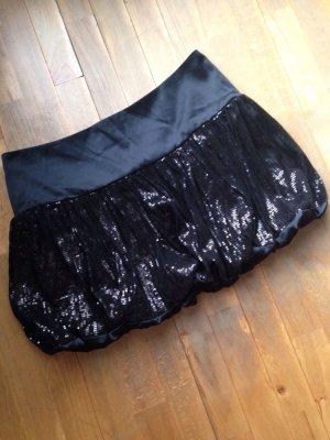 Neu 38 it/44 Adele Fado Mini black Pailetten Partylook