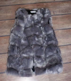 Fur vest grey polyester