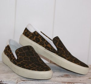 neu! 38 ♡♥♡ YVES SAINT LAURENT ♡♥ luxus SNEAKERS SLIP ON LEO LEDER SKATE