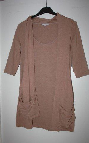 3 Suisses Abito maglione color cammello Tessuto misto