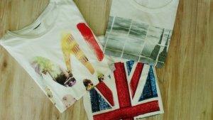 NEU 3x! H&M Print Shirts-  S