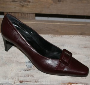 Neu 40 APART mega stylische Leder Pumps in Bordeaux ~ Trend High Heels