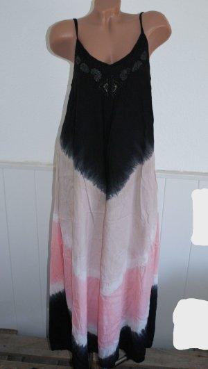 neu! 40 CREAM Maxikleid Boho Look Farbverlauf Kleid Dress Maxi Hippie Blogger