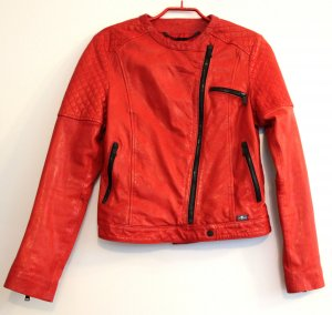 NEU 7 for allmankind MOTORCYCLE Lederjacke Gr S in ROT