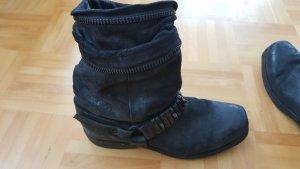 NEU! A.S.98 Damen Biker Boots/ Stiefeletten/ Stiefel schwarz