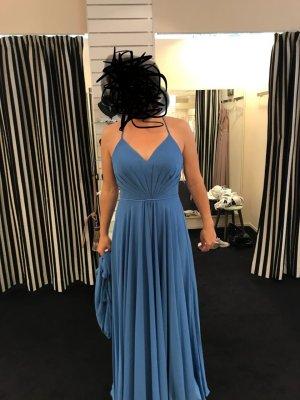 Neu Abendkleid bodenlang blau