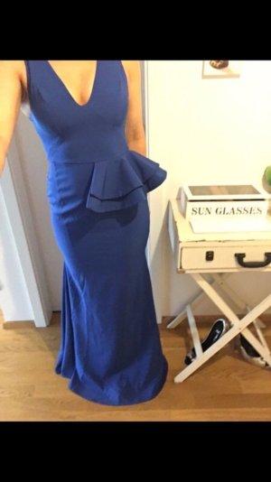 Peplum jurk blauw