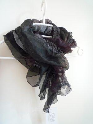 NEU *abendliches Schaltuch*, grau & schwarz, mit Streifen, von Felgar