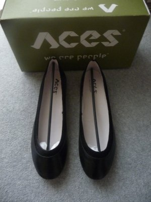 Neu ACES OF LONDON CAL 2819 L Ballerina NEW 39 Black