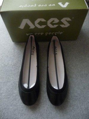 Aces of London Ballerina Mary Jane nero Pelle