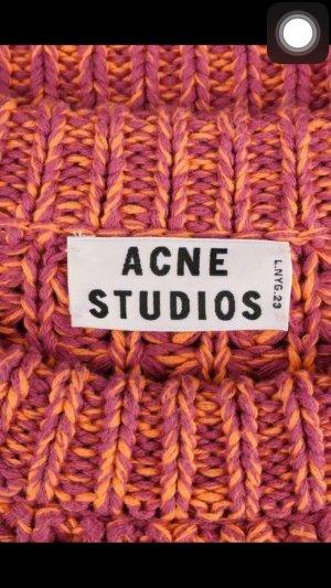 NEU Acne Lia Twist chunky-knit cotton Sweater Pullover S pinkorangevioletpurple