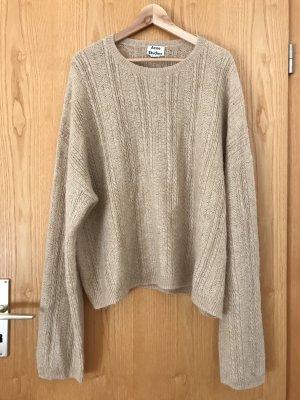 NEU Acne Studios Theda Sweater Pullover beige, M (ideal für M-L)